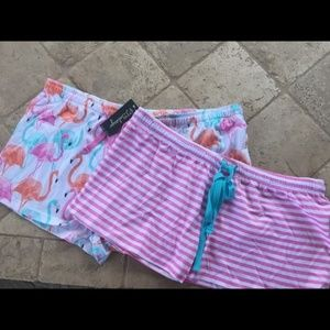 NWT PJ SALVAGE SLEEP SHORTS BOTTOMS FLAMINGO LARGE